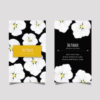 Creatieve aquarel bloemen visitekaartje