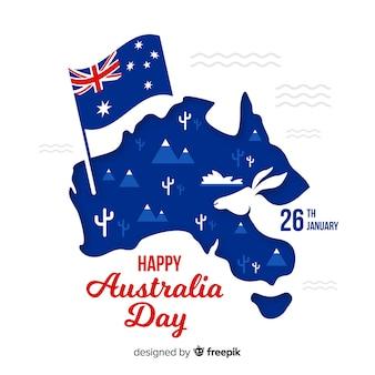 Creatieve australië dag achtergrond