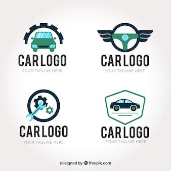 Creatieve auto logo set