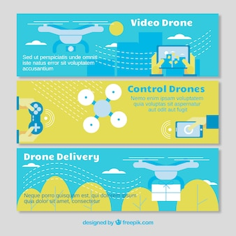 Creatieve banners met drones