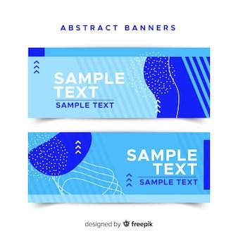 Creatieve banners met samenvattingsvormen
