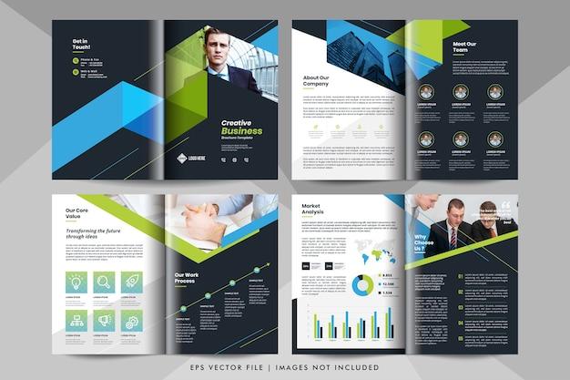 Creatieve bedrijfspresentatie, bedrijfsprofiel sjabloon. zakelijke brochure sjabloon.