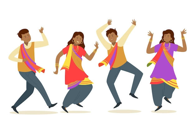 Creatieve bollywood feestmensen dansen