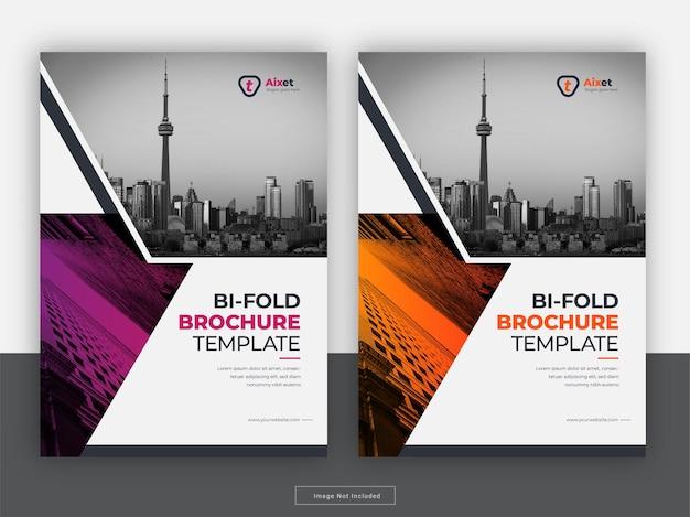 Creatieve brochure dekking jaarverslag flyer sjabloon