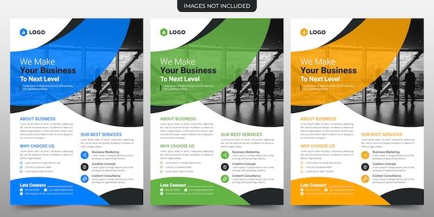 Creatieve business flyer sjabloonontwerp