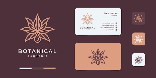 Creatieve cannabis logo ontwerpsjabloon.