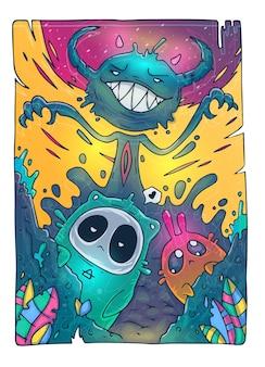 Creatieve cartoon illustratie.