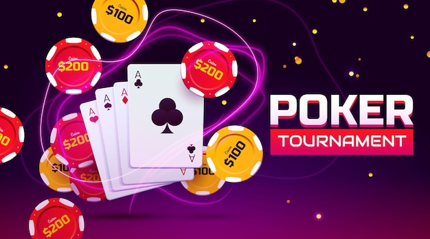 Creatieve casino spullen achtergrond