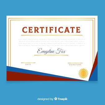 Creatieve certificaatsjabloon