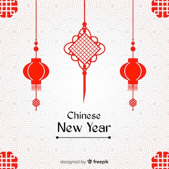 Creatieve chinese nieuwe jaarachtergrond