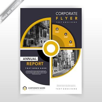 Creatieve cirkelvormige flyer ontwerpsjabloon