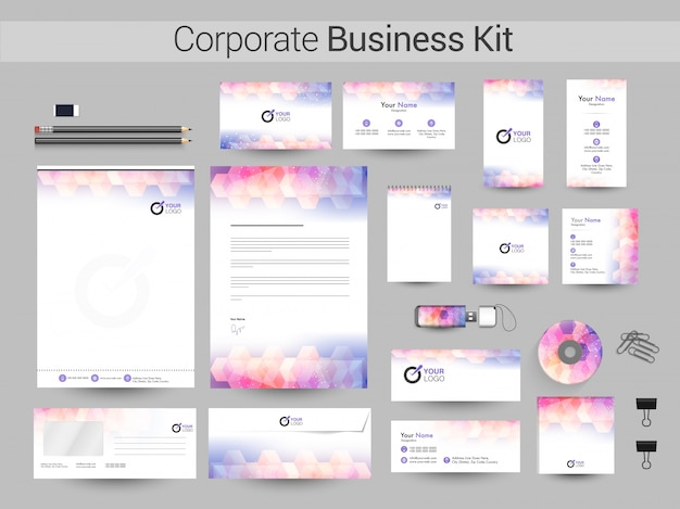 Creatieve corporate identity of business kit.