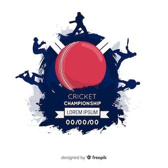 Creatieve cricket kampioenschap achtergrond