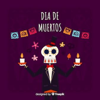 Creatieve dia de muertos achtergrond