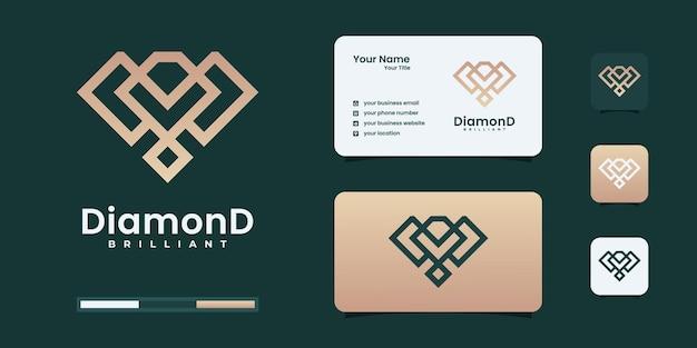 Creatieve diamant concept logo ontwerpsjabloon. luxe diamantlogo kan worden gebruikt voor uw merkidentiteit.