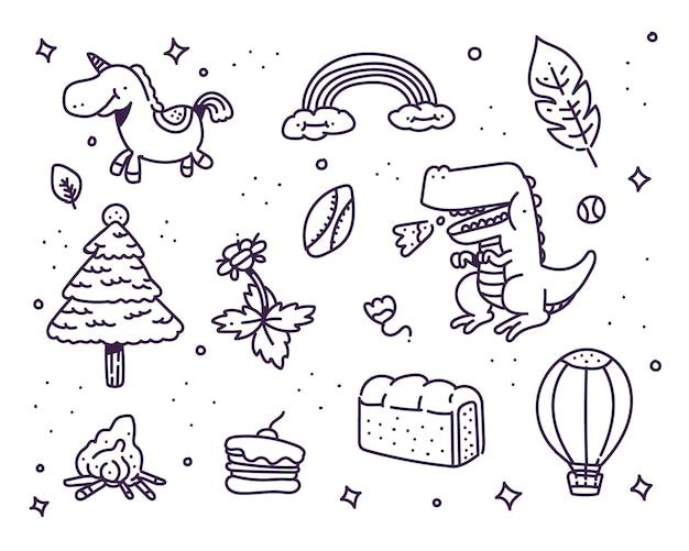 Creatieve doodle stijl illustratie