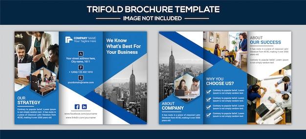 Creatieve driebladige brochure ontwerpsjabloon
