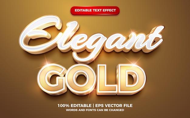 Creatieve elegante gouden bruiloft brief vetgedrukte 3d bewerkbare teksteffectsjabloon