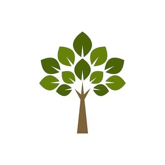 Creatieve en unieke boom logo ontwerpsjabloon