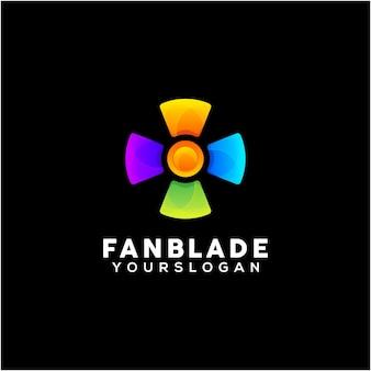 Creatieve fan blade kleurrijke logo ontwerp vector