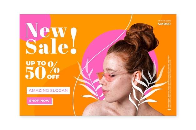 Creatieve fashion sale homepage met foto