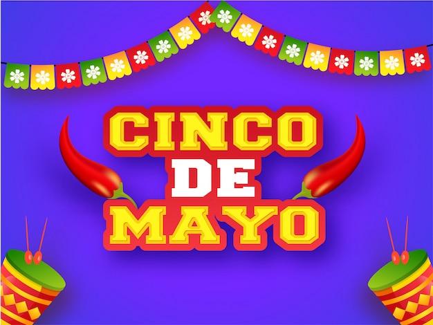 Creatieve fiesta partij poster of flyer ontwerp