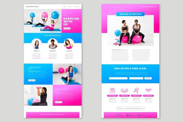 Creatieve fitness-e-mailsjabloon met foto's