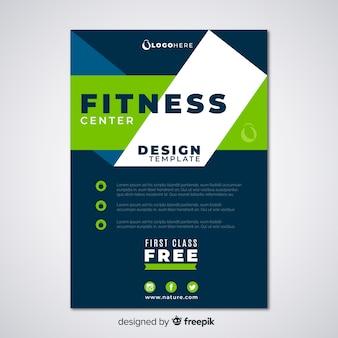 Creatieve fitness flyer-sjabloon