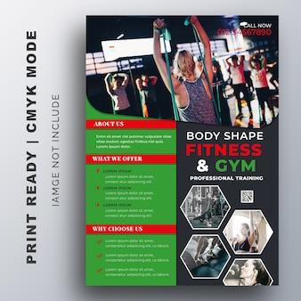 Creatieve flyer fitness gym ontwerpsjabloon