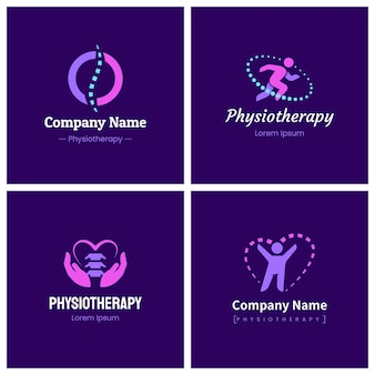Creatieve fysiotherapie logo set