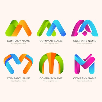 Creatieve gedetailleerde logo's