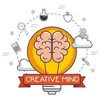 Creatieve geest set pictogrammen
