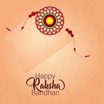 Creatieve gelukkige raksha bandhan viering wenskaart