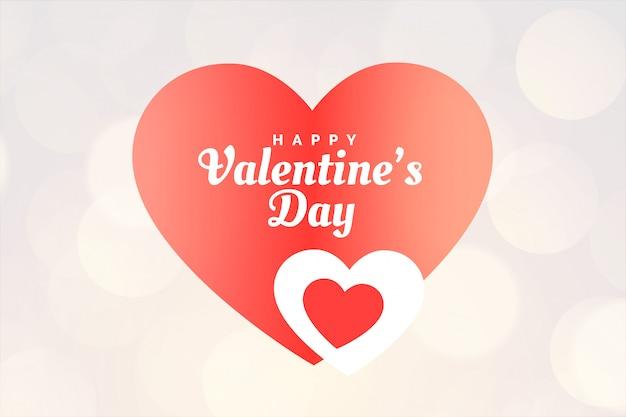 Creatieve gelukkige valentijnsdag harten wenskaart