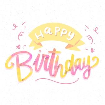 Creatieve gelukkige verjaardag belettering