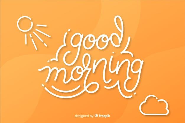 Creatieve goedemorgen belettering achtergrond
