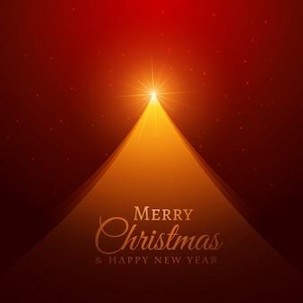 Creatieve gouden kerstboom ontwerp op rode achtergrond