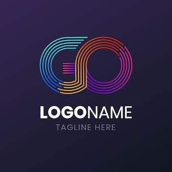 Creatieve gradiënt gaan logo sjabloon