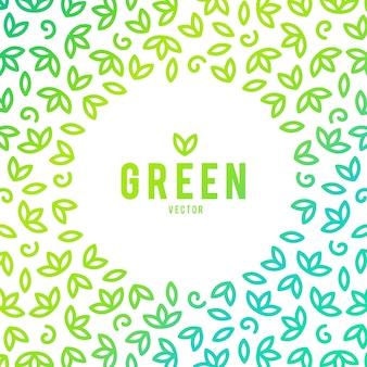 Creatieve groen huis concept logo sjabloon