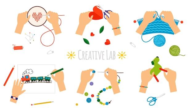 Creatieve handen.