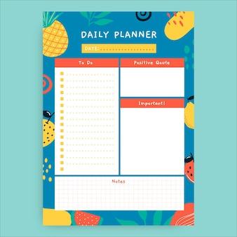 Creatieve handgetekende fruitplanner