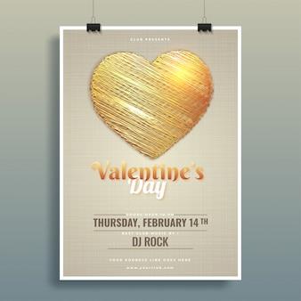 Creatieve hartvorm op glanzende achtergrond voor valentijnsdag ce