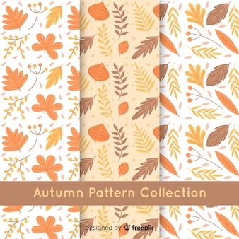 Creatieve herfst patroon collectie