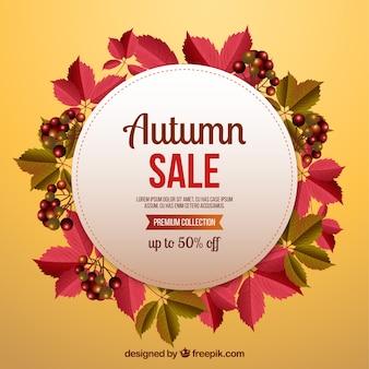 Creatieve herfst verkoop achtergrond