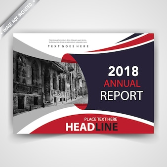 Creatieve horizontale rode brochureillustratie