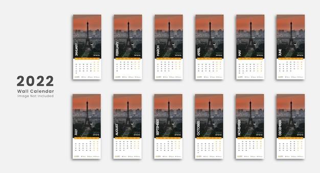 Creatieve horizontale wandkalender