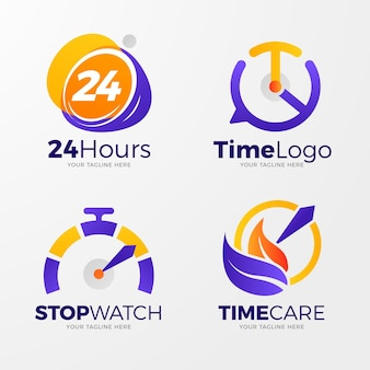 Creatieve horloge logo sjablonen