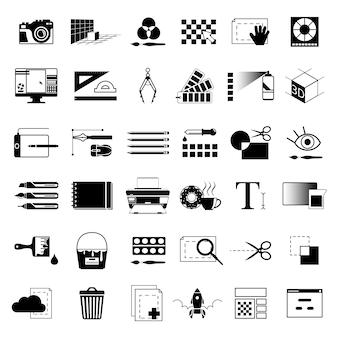 Creatieve hulpmiddelen voor grafische kunstenaars of webontwerpers