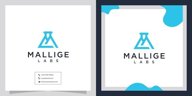 Creatieve ideeën voor m lab-logo