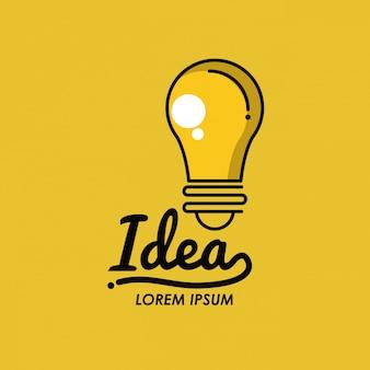Creatieve ides-lamp